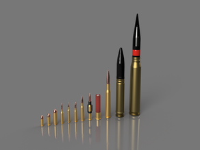 Different bullets/ shells - 9mm to 30mm