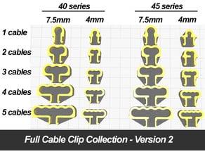 Full Cable Clip Collection for Aluminium Profiles