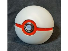 Pokeball - weighted, opening, light up button