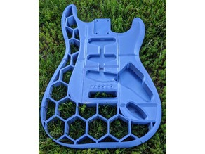 Honeycomb Stratocaster Body (repositioned pieces)
