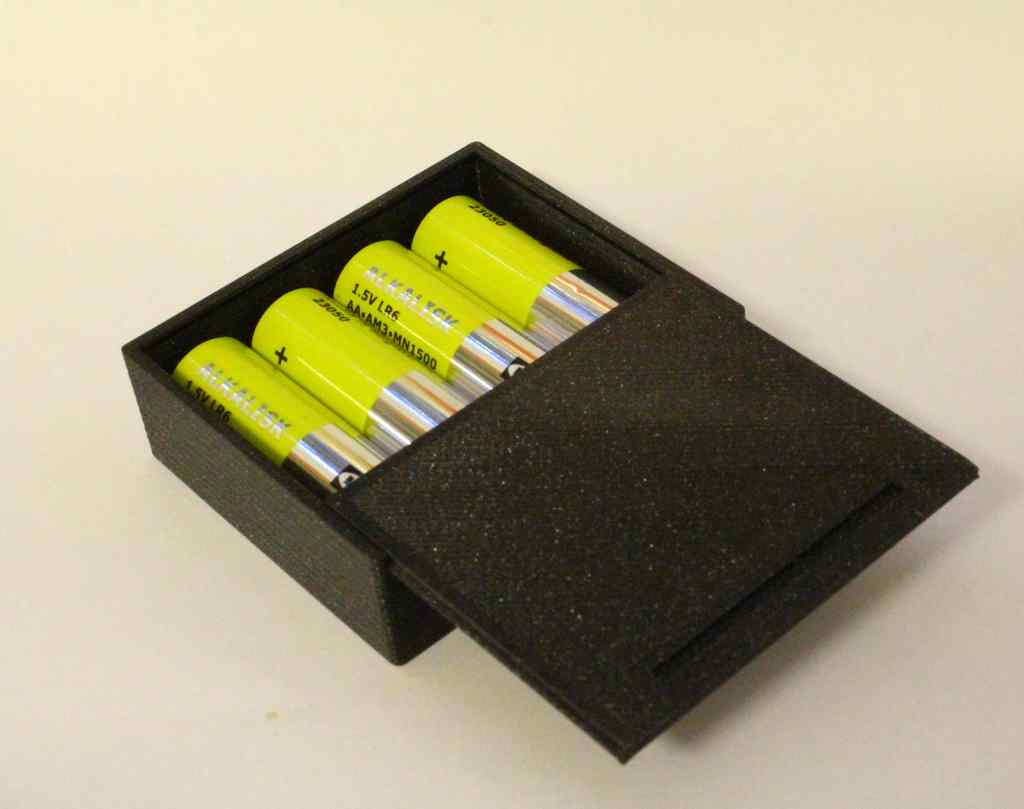 AA AM3 MN1500 sliding lid battery box
