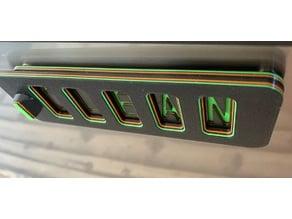 Sliding Dishwasher Sign magnetic