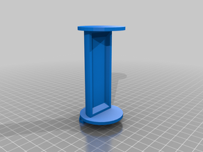 Extended filament reel stand