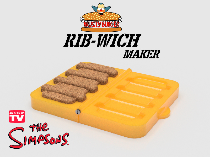 """Rib-Wich burger press from the animated series """" the simpsons"""""""