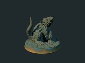 Giant rat (supportless, FDM friendly)