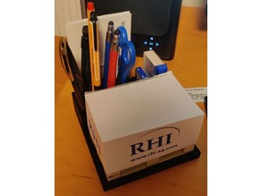 Pencil and note paper holder