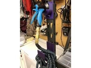 Garden Hose and Nozzle Holder for Metal Husky Shelving