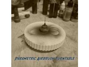 Airbrush Turn Table (parametric)