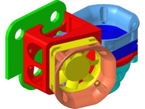 MK8 enclosure for 30x30&40x40 fans and BLTouch mount - U20/U20+/U30/U30Pro/LK1/LK2/LK4/LK4Pro compatible