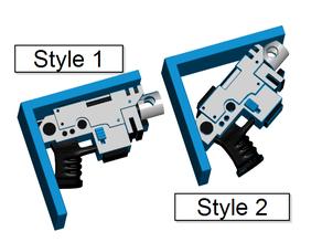 Warhammer Bolt Pistol Shelf Bracket (Screw or Tape Mount)