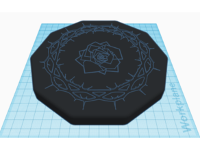 Rose Lid for Dice Box