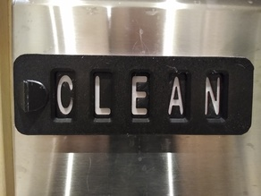 Sliding Word Dishwasher Sign with Staggered Layers for Letters