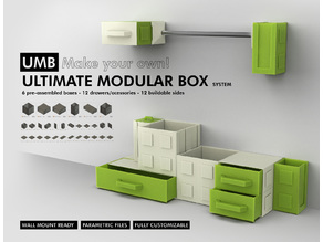 UMB - ULTIMATE MODULAR BOX SYSTEM! More than 30 parametric parts for you customize your storage