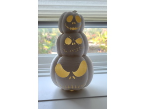 Light up Jack Skellington Pumpkin Tower