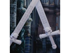Grimdark sword of maximum gothiness for adjudicating