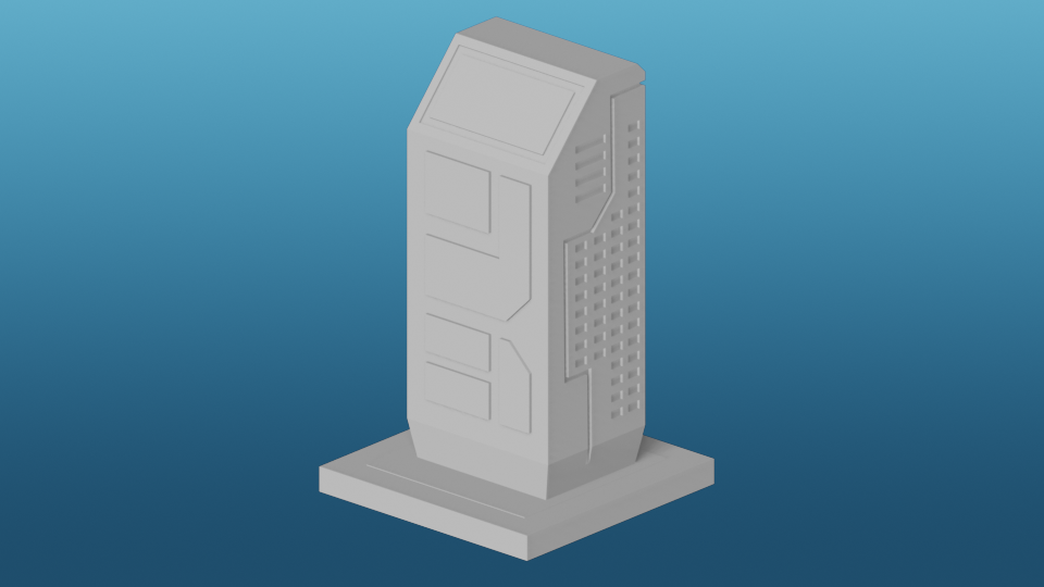 GreebleCity Cyberpunk: Residential Block 1