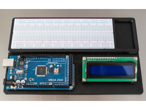 Arduino Uno and MEGA 2560 Stand with LCD mount and Breadboard Slot