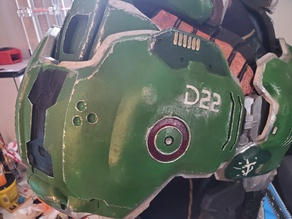 DOOM Slayer Right Shoulder Pauldron