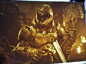 Doom Slayer Lithophane