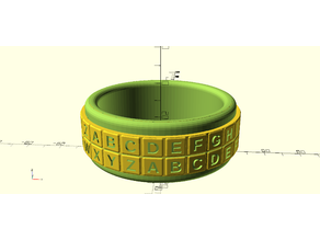 Cipher Ring -- Bracelet version