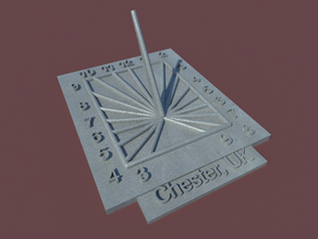 Square Sunclock - Northern Hemisphere - Fixed Customizer