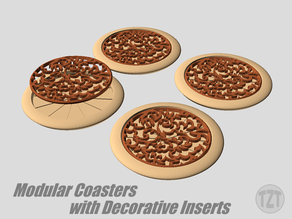 Modular Coasters with Decorative Insert