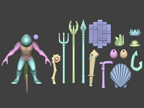 'Fishmen' Weapons and Props