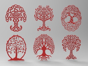 Celtic art  Tree  for CNC and remixes