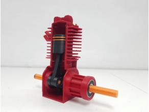 Fully 3D Printable 2 Stroke Engine Model