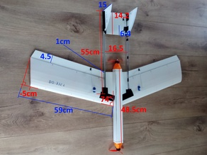 RC plane . made in Fluted plastic sheets . 3D print parts ( inspired by the DO 335 ) twin engine in ligne