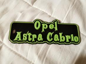 Opel Astra Cabrio Key Chain