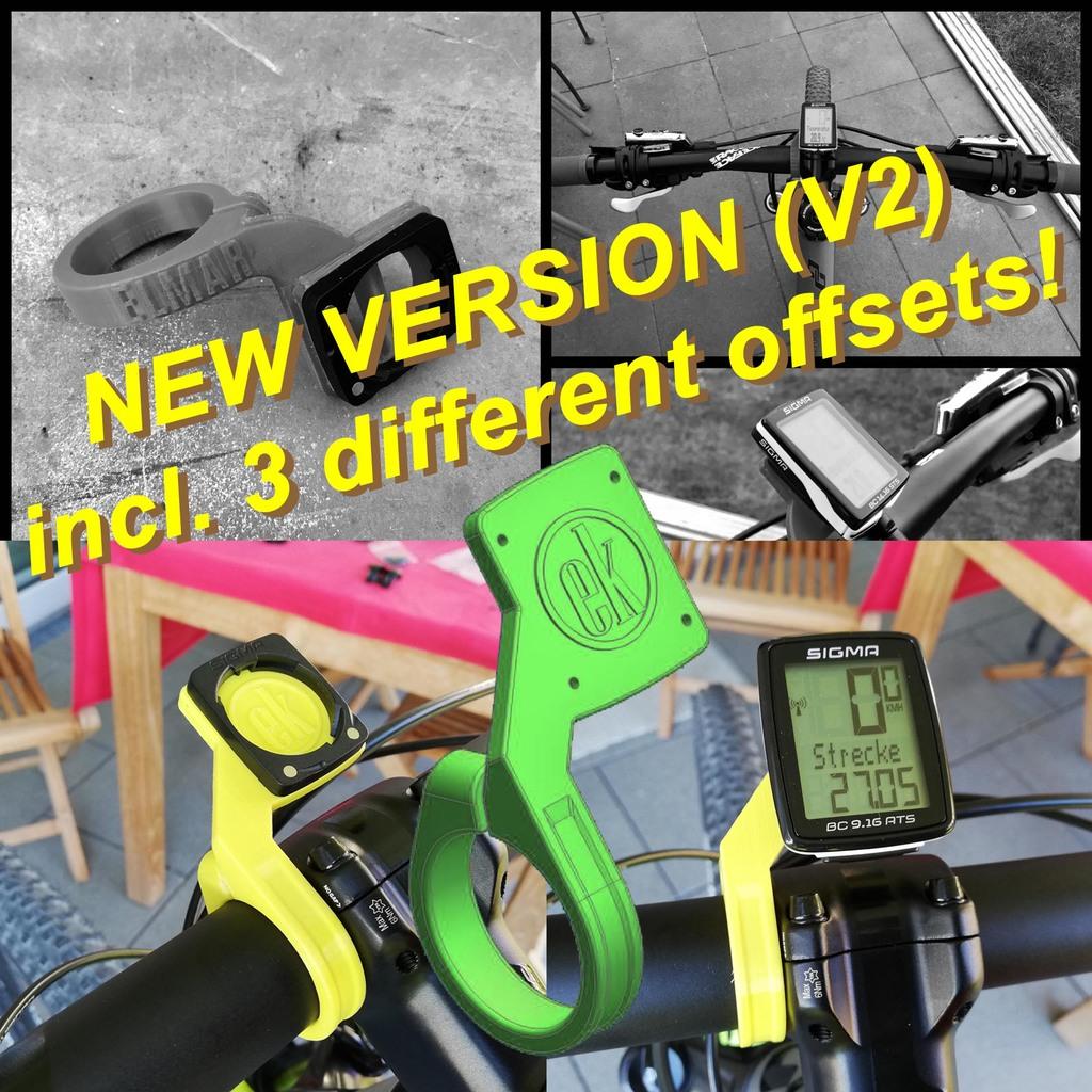 SIGMA Bike Computer Mount - NEW VERSION (V2)
