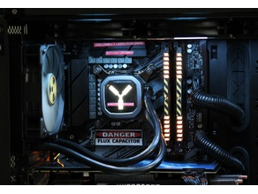Flux Capacitor Pump Cover for Corsair H60 AIO