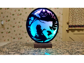 Alice in Wonderland Cheshire Cat Silhouette Lamp