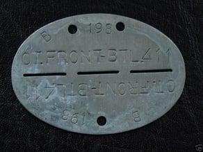 German ID Tag WW2