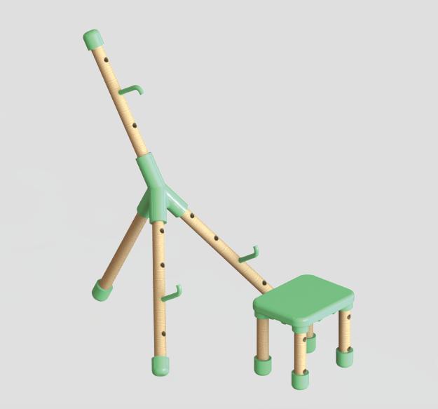 Field easel with stool (Porzano and Porzano+)