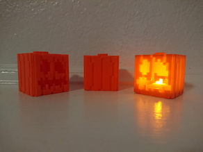 Minecraft-Themed Pumpkin and Jack-o-Lanterns