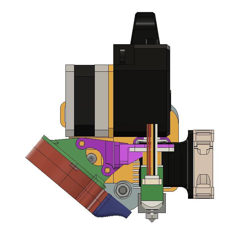 Ender 3 Trianglelab Bondtech BMG + E3D V6 Direct Drive Mount System