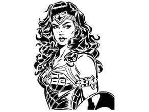 Wonder Woman stencil 10