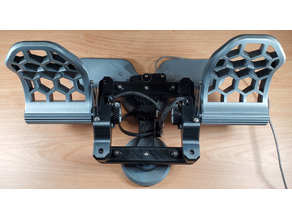 CadetPedals: Rudder Pedals and Toe Brakes for Flight Sims