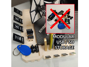 Modular Storage System for USB / SD Cards / Micro SD