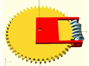 Globoid worm and gear combi 2.0 OpenSCAD