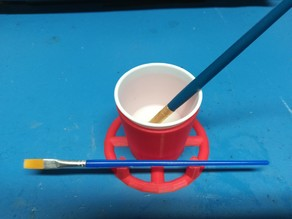 Dixie Cup Holder Painting Tool