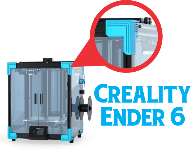Creality Ender 6 Corner Trim Bracket