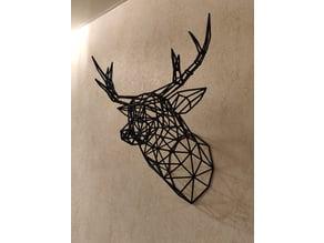 Wireframe deer head