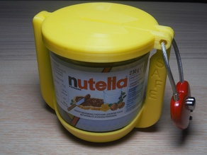 Small Nutella safe and piggybank - without screw!!!