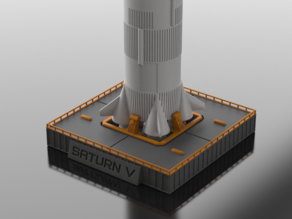 Display Stand for Snap-Fit Saturn V