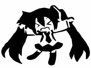 Hatsume Miku stencil 2