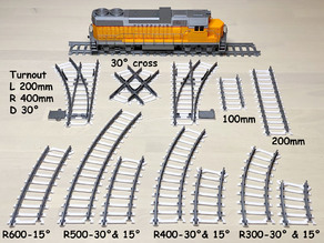 New Train track for OS-Railway - fully 3D-printable railway system!