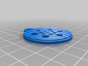 Yarn Pendant w/ Needle Gauge (US 00 through 9)